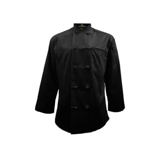 black chef coat set uniform