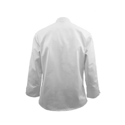 chef set coat white back